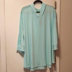 Knit Hoodie w/ 3/4 Sleeves - 22/24